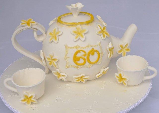 Celebrate Cakes Adult Birthday Cake Tea Pot 60th Birthday Cake