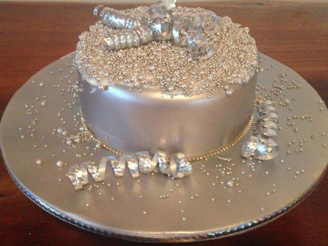 Celebrate Cakes Adult Birthday Cakes - Silver Birthday Cake