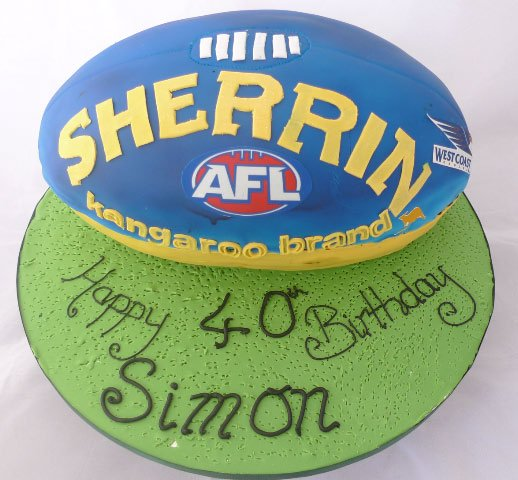 Celebrate Cakes Adult Birthday Cakes - AFL Birthday Cake