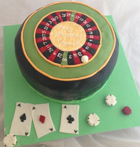 Celebrate Cakes Adult Birthday Cakes - Roulette Birthday Cake