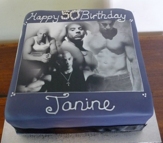 Celebrate Cakes Adult Birthday Cakes - Vin Diesel Photo Cake