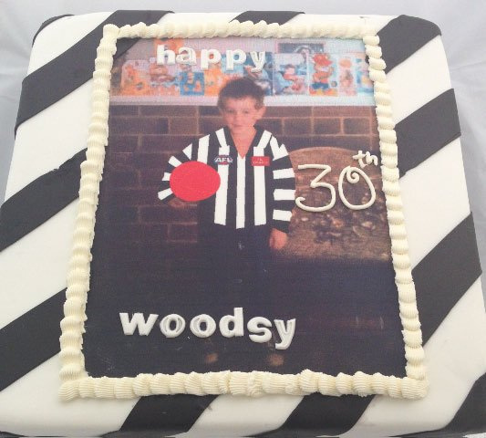 Celebrate Cakes Adult Birthday Cakes - footy photo cake