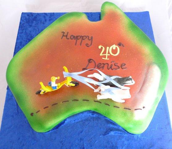Celebrate Cakes Adult Birthday Cakes - trip across Australia Cake