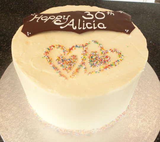 Celebrate Cakes Adult Birthday Cake - love harts cake