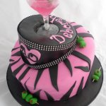 Celebrate Cakes Adult Birthday Cakes - Mat Hatter Birthday Cake in Pink and Black
