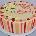 Celebrate Cakes Adult Birthday Cakes - pink stripes