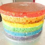 Celebrate Cakes Adult Birthday Cakes - rainbow cake