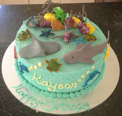 34 Childrens Birthday Cake Under the Sea Design