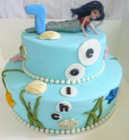 24 Kids Birthday Cake Mermaid Design