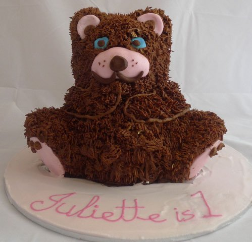 0 3D Teddy Bear Cake