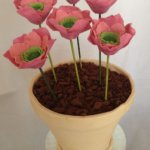16 Edible Poppies Birthday Cake