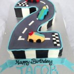 13 Number 2 racing Car Birthday Cake