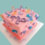 42 Pink Butterfly Kids Cake