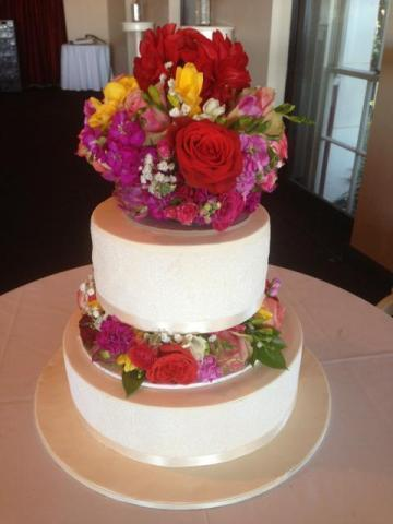 Celebrate Cakes - Wedding Cake sugar rose