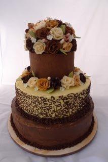 Celebrate Cakes - Rachel Wedding Cake with Sugar Roses