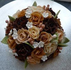 Celebrate Cakes - Racehl Wedding Cake with Sugar Roses