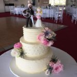 Celebrate Cakes - Wedding Cake with sugar roses