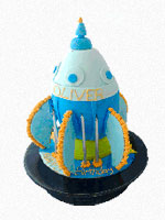 Rocket Birthday Cake