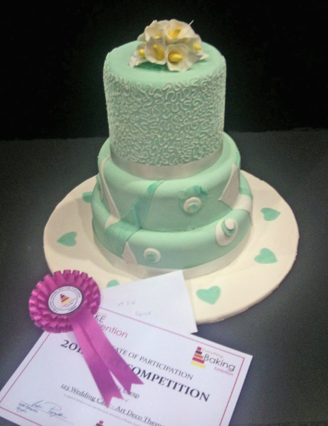 Celebrate Cakes Price Winning Art-Deco Wedding Cake