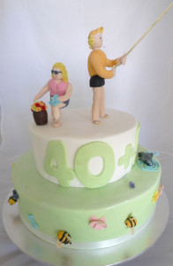 Perth Adult Birthday Cake - Two tiered birthday cake