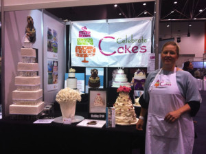 Felicity Cresp of Celebrate Cakes at the 2014 Dusk Bridal Fair