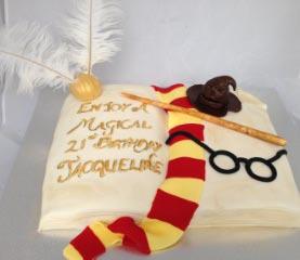 Celebrate Cakes - Wizard Book Cake
