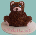 3D Teddy Bear Birthday Cake