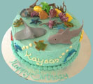 under the sea kids birthday cake